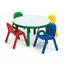 <strong>Angeles</strong> Round Baseline Preschool Table and Chair Set in Shamrock Green