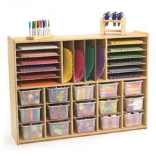 Value Line Multi-Section Storage with Opaque Trays
