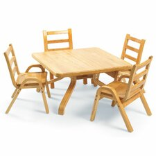 "<strong>Angeles</strong> NaturalWood 12"" Square Toddler Table And Chair Set"