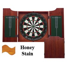 Dart Board Cabinet in Honey