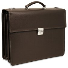 Prestige Triple Leather Laptop Briefcase