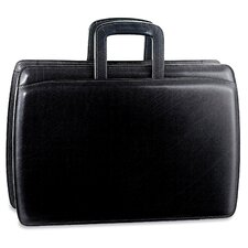 <strong>Jack Georges</strong> Elements Double Gusset Leather Briefcase