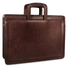 Belting Double Gusset Zip Top Briefcase