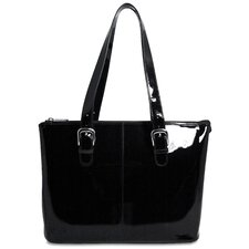 <strong>Jack Georges</strong> Patent Leather Madison Avenue Laptop Tote Bag
