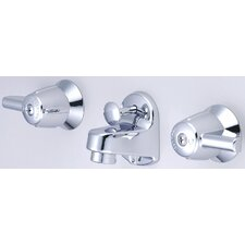 Wall Mounted Bathroom Sink Faucet with Double Lever Handles