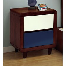 Enzo 2  Drawer Nightstand