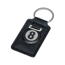 Novelty Items Eight Ball Leather Key Holder