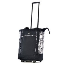 Zebra Rolling Shopping Tote