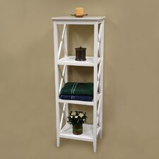 "18"" x 54"" X-Frame Bathroom Towel Tower"