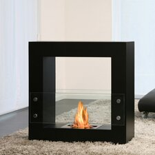 Qube Bio Ethanol Fuel Fireplace with Glass