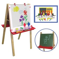 <strong>ECR4kids</strong> Adjustable Easel With 27 Piece Paint Set