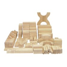 <strong>ECR4kids</strong> 170 Piece Hardwood Building Block Set