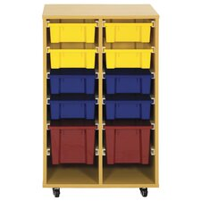 Storage Trolley 10 Compartment Cubby