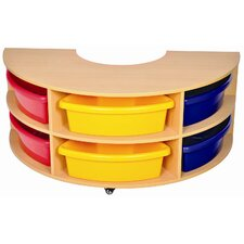 Low Round Storage Center 6 Compartment Cubby