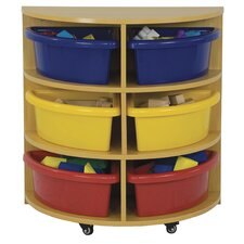 Half Circle High Storage Centre 6 Compartment Cubby