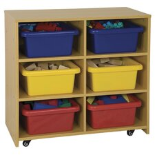 High Storage Center 6 Compartment Cubby