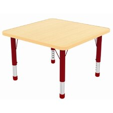 "30"" Square Laminate Preschool Table in Maple"