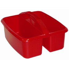 Two Compartment Large Plastic Art Caddy