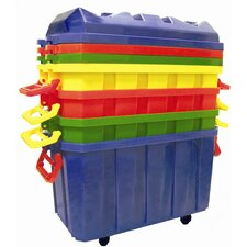 <strong>ECR4kids</strong> 4 Pack of 18 Gallon Stor-N-Roll Toy Trunks with Casters