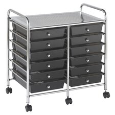 12 Drawer Double-Wide Mobile Organizer
