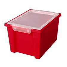 Large Storage Bin with Clear Lid (Set of 20)