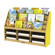 Colorful Essentials™ Book Display with 6 Compartment Storage