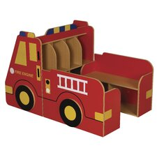 3-Piece Fire Engine Book Storage Center