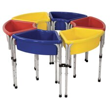 <strong>ECR4kids</strong> 6 Station Ellipse Sand & Water Center w/ Lids