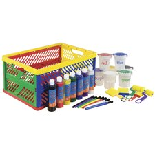 <strong>ECR4kids</strong> 27 Piece Paint Set in Large Storage Crate