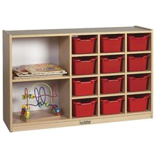 Double Sided Laminate Cabinet 14 Compartment Cubby