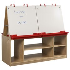 <strong>ECR4kids</strong> 4-Station Art Easel with Storage
