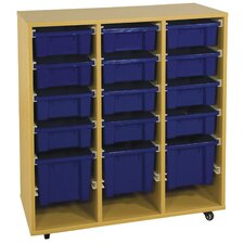 Storage Trolley 15 Compartment Cubby