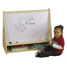 <strong>ECR4kids</strong> Two Sided Pic A Book Stand with Dry Erase Board and Storage Cubbie