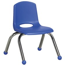 "<strong>ECR4kids</strong> 10"" Plastic Stack Chair with Chrome Legs"