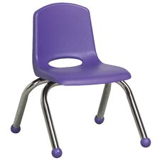 "10"" Plastic Stack Chair with Chrome Legs"
