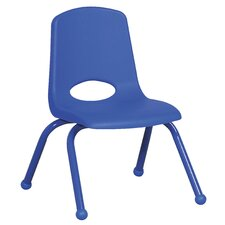 "<strong>ECR4kids</strong> 14"" Plastic Stack Chair with Matching Painted Legs"