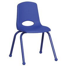 "16"" Plastic Stack Chair with Matching Painted Legs"