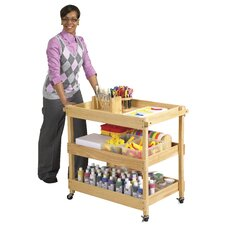 <strong>ECR4kids</strong> Hardwood Utility Cart with Four Casters