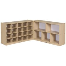 "30"" Fold and Lock Storage Cabinet 25 Compartment Cubby"