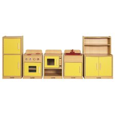 <strong>ECR4kids</strong> 5 Piece Play Kitchen Set