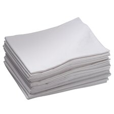 12 Pack Toddler Cot Sheets in White