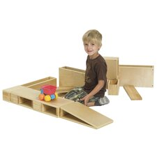 <strong>ECR4kids</strong> 18 Piece Hollow Wooden Block Set