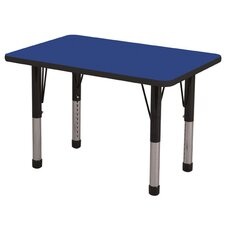 "<strong>ECR4kids</strong> 24"" x 36"" Rectangular Adjustable Activity Table"
