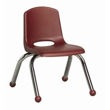 "10"" Plastic Stack Chair with Chrome Legs (Set of 6)"