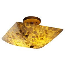 <strong>Justice Design Group</strong> Alabaster Rocks Ring 2 Light Semi Flush Mount