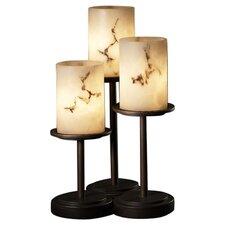 "LumenAria Dakota Portable 16"" H Table Lamp with Drum Shade (Set of 3)"