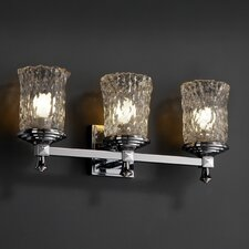 <strong>Justice Design Group</strong> Veneto Luce Deco 3 Light Bath Vanity Light