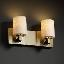 <strong>Justice Design Group</strong> Limoges Modular 2 Light Bath Vanity Light