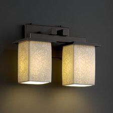 <strong>Justice Design Group</strong> Limoges Montana 2 Light Bath Vanity Light