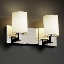 <strong>Justice Design Group</strong> Fusion Modular 2 Light Bath Vanity Light